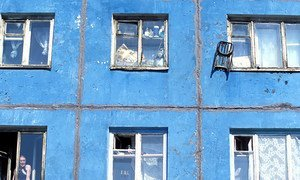 Some of the state-built housing in Russia is in need of improvement (2007).