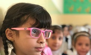Students in West Mosul, Iraq, attend the UNICEF-supported Ithar School, which runs a shift for boys and a shift for girls.  During the last war, many children dropped out of school.
