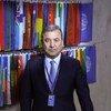 Первый вице-спикер Сената Олий Мажлиса Узбекистана Садык Сафоев в студии Службы новостей ООН