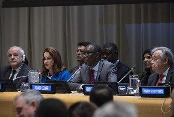 الاحنفال باليوم الدولي للتضامن مع الشعب الفلسطيني في مقر الأمم المتحدة في نيويورك.