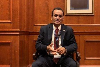 ناصر بكر القحطاني، المدير التنفيذي لبرنامج الخليج العربي للتنمية(أجفند)، خلال حوار مع اخبار الأمم المتحدة من بيروت.