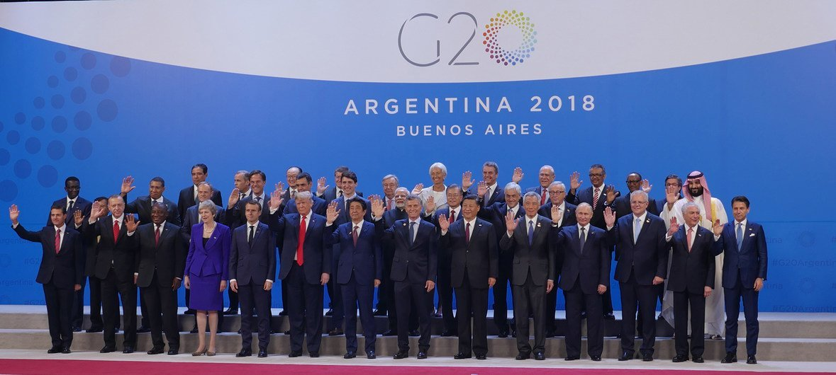 Delegates to the G20 summit have gathered in Buenos Aires, Argentina. (30 November 2018)