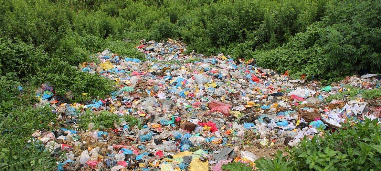 Городская свалка в Непале