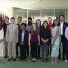 2018年11月16日在联合国纽约总部参与国际容忍日活动的部分与会者。