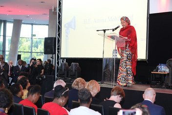 Deputy Secretary-General Amina Mohammed at the World Aids Day Reception in Johannesburg, South Africa. 1 December 2018.