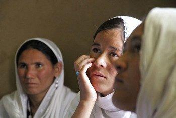 Young women in Sharak e Muhajireen village in Nili district of the Daikundi province in Afghanistan, 2018.
