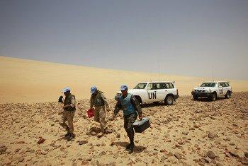 El personal de mantenimiento de la paz está destinado en el Sáhara Occidental desde 1991, cuando se estableció la misión de la ONU, la MINURSO.