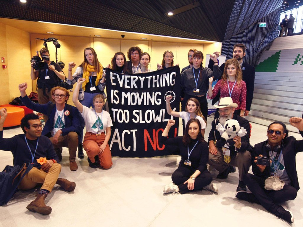 An Earth Council Flash Mob at COP24 in Poland to remind all negotiators and leaders that everything is moving too slow and that we have to take action now.