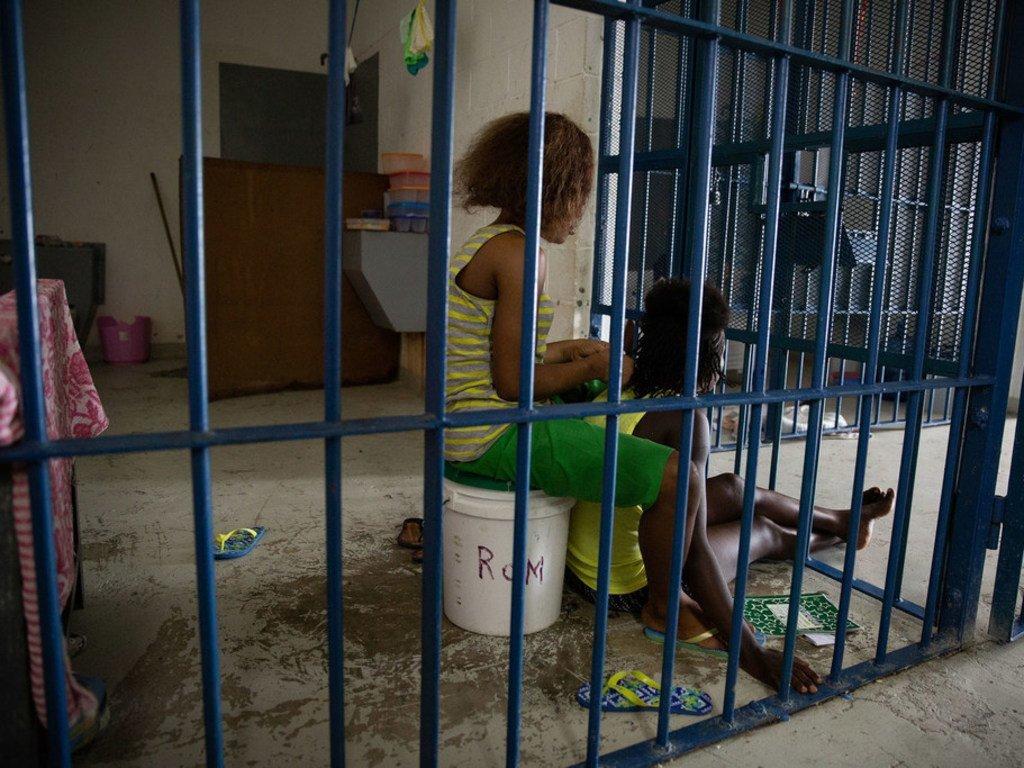 海地的一座女子监狱。