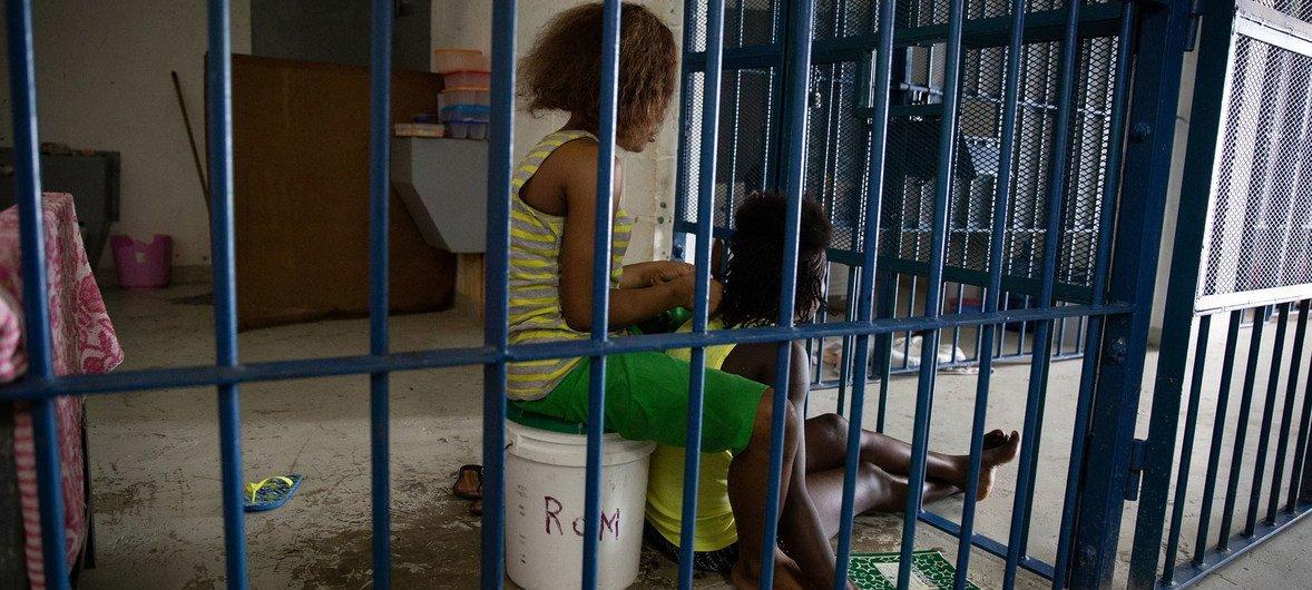 A scene from inside a women's prison, Haiti, October 2018.