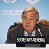 El Secretario General de la ONU, António Guterres durante su visita a la COP24.