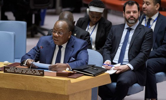 François Louncény Fall, Special Representative of the Secretary-General and Head of the UN Regional Office for Central Africa (UNOCA), briefs the Security Council on Central African region (File photo)