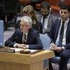 أرشيف: مارك لوكوك وكيل الأمين العام للشؤون الإنسانية ومنسق الإغاثة في حالات الطوارئ يقدم إحاطة لمجلس الأمن عن سوريا. 13 كانون الأول / ديسمبر 2018.