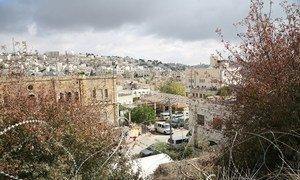 El asentamiento Beit Hadassah en la zona H2 de Hebrón, Cisjordania.