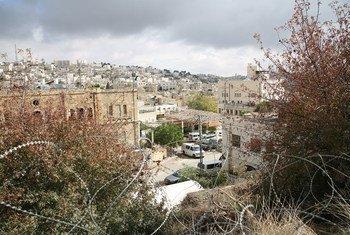 Beit Hadassah Settlement in H2 area in Hebron, West Bank.