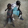 Mother and daughter in Unity State, South Sudan.