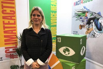 """Professor Diana Ürge-Vorsatz, Review Editor of the 2018 IPCC special report, """"Global Warming of 1.5 °,"""" in an interview with UN News at COP24 conference in Katowice, Poland."""