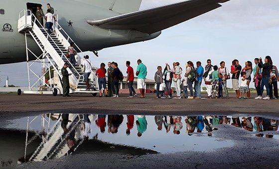 Refugiados e migrantes venezuelanos no Brasil.