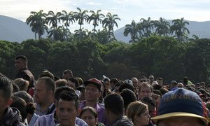 Cucuta, border of Colombia with Venezuela. Thousands of refugees and migrants from Venezuela continue to enter Colombia daily, through the main regular entry point, crossing the Simon Bolivar International Bridge.