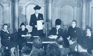 Princípio da igualdade de gênero poderia não ter sido incluído se não fossem as mulheres, que defenderam uma Declaração que fosse verdadeiramente universal