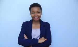 Rebeca Gyumi kutoka Tanzania, mwanaharakati wa haki za wanawake na wasichana na mshindi wa tuzo ya Umoja wa Mataifa ya haki za binadamu 2018.