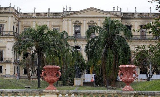 Museu Nacional no Rio de Janeiro, Brasil.