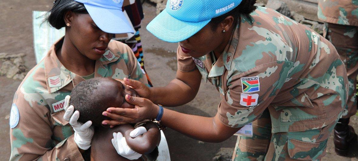 Costa Neves lembrou que a força de paz da ONU na República Democrática do Congo tem um contingente total de 15% de mulheres.