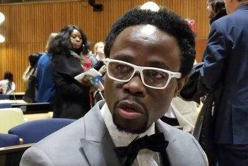 Bertine Bahige mkimbizi kutoka DRC ambaye sasayuko hapa Marekani na anatumia yaliyoyapotia kuwapa moyo wakimbizi wengine.