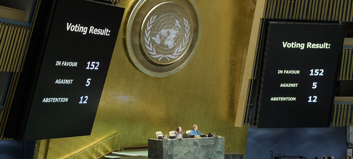 Matokeo ya upigiaji kura mkataba wa Marrakech kwenye Baraza Kuu la UN jijini New York, Marekani leo Desemba 19, 2018.
