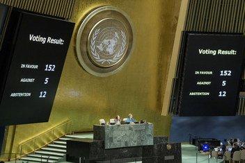 Los resultados de la votación sobre el Pacto Mundial de Migración.