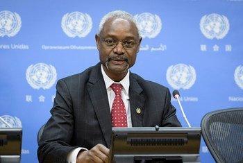 Ibrahim Thiaw, Conseiller spécial du Secrétaire général pour le Sahel lors d'une conférence de presse au siège de l'ONU le 20 décembre 2018.