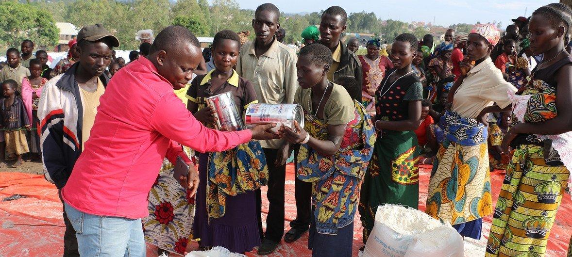 विश्व खाद्य कार्यक्रम ने इतुरी प्रांत में बड़े पैमाने पर खाद्य सामग्री का वितरण किया है.