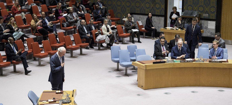 Специальный посланник ООН по Сирии Стаффан де Мистура выступил с последним брифингом в Совбезе
