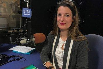 Mtafiti Rebecca Adami akiwa katika studio za UN News kwenye makao makuu ya Umoja wa Mataifa mjini New York Marekani.