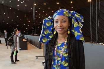 Hindou Ibrahim, from the Peule Mbororo community in Chad, at COP24 in Katowice, Poland. She is an expert in adaptation and mitigation for indigenous peoples on climate change.