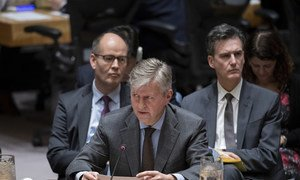 Jean-Pierre Lacroix, Under-Secretary-General for Peacekeeping Operations, briefs the Security Council, 17 December 2018.