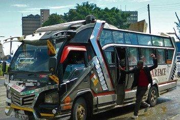 Matatu mjini Nairobi Kenya