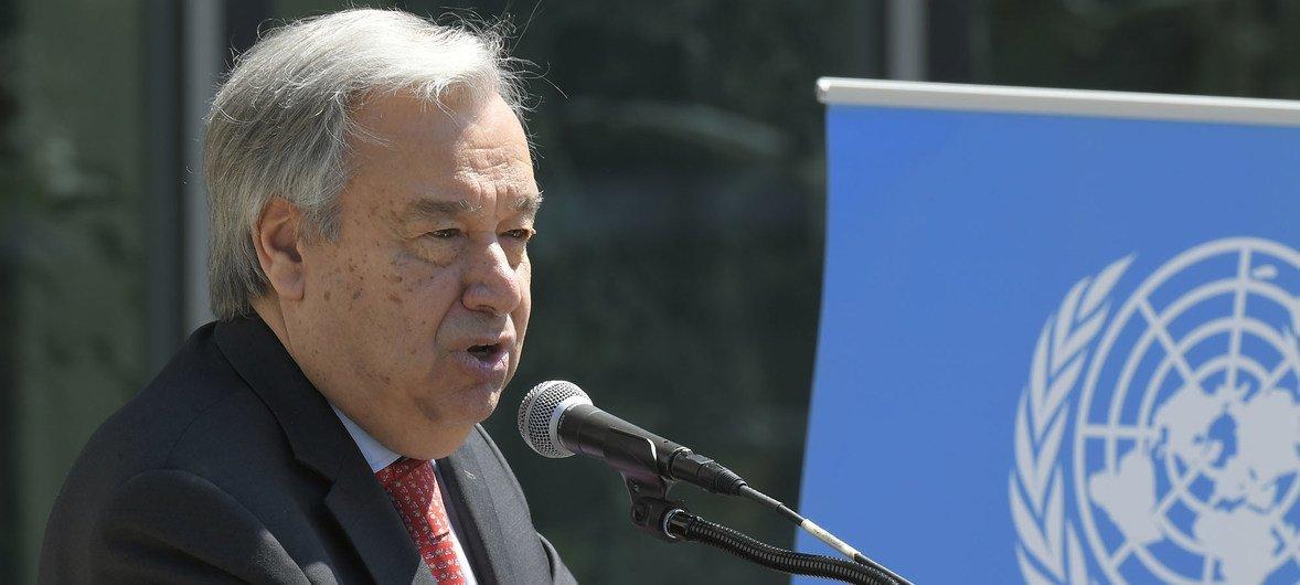 El Secretario General António Guterres.