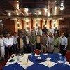 (من الأرشيف) الاجتماع المشترك للجنة تنسيق إعادة الانتشار في مدينة الحديدة باليمن. 28 ديسمبر 2018.