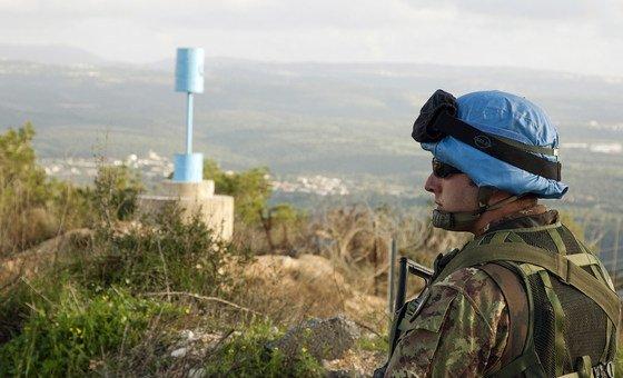 Membro da Força Interina da ONU no Líbano, Unifil.