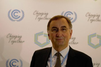Jonas Pasztor, Executive Director for the Carnegie Climate Geoengineering Governance Initiative (C2G2) at the COP 24 climate change conference in Katowice, Poland.  13 December 2018.