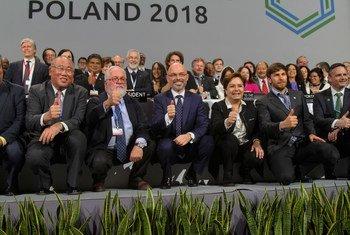 COP24 closing plenary meeting in Katowice, Poland, 16 December 2018.