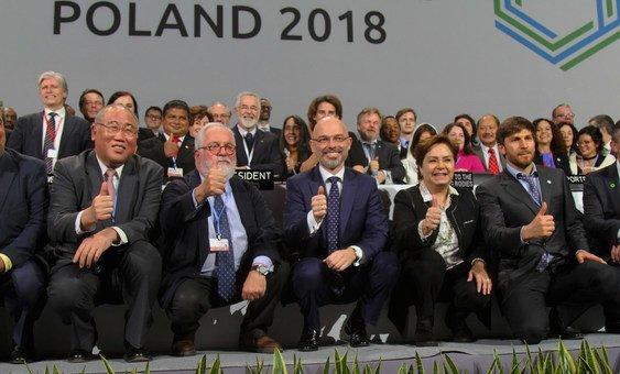Заключительное заседание Конференции по климату, которая проходила в Катовице, Польша. 16 декабря 2018 года.