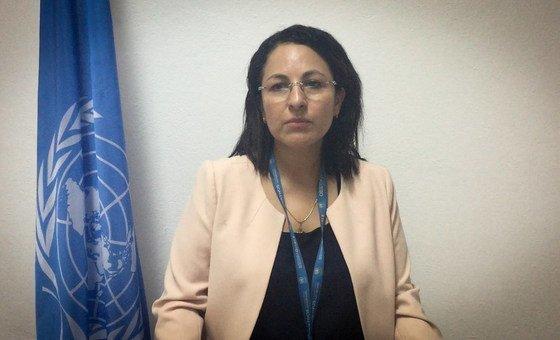 Chefe da Secção de Direitos Humanos da Uniogbis, Mireya Maritza Peña-Guzmán