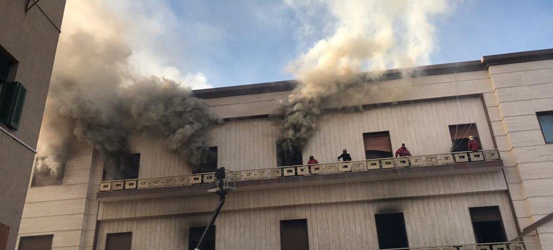 Здание МИДа Ливии в Триполи после теракта.