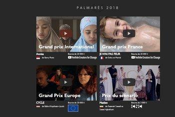 Des lauréats de l'édition 2018 du Mobile Film Festival.