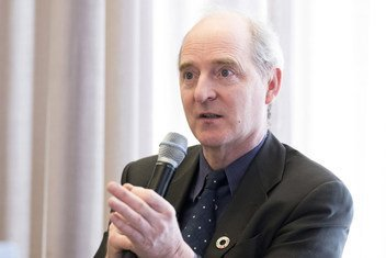 Leonard Doyle, Director, Media and Communication Division of the International Organization for Migration ( IOM ) at the United Nations Office at Geneva.  8 March 2018.