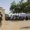 माली में सुरक्षा व्यवस्था मज़बूत करने के लिए अभियान चलाते सेनेगल के शांति सैनिक.