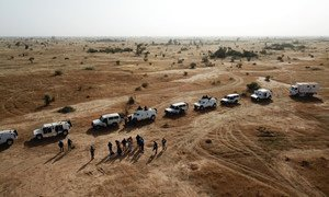 Senegalese peacekeepers from the UN peacekeeping mission, MINUSMA, patrol Koro, in Mali's central Mopti region. (December 2018)