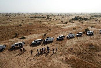 Des Casques bleus sénégalais de la MINUSMA en patrouille dans la région de Mopti, au Mali, en décembre 2018 (archive)
